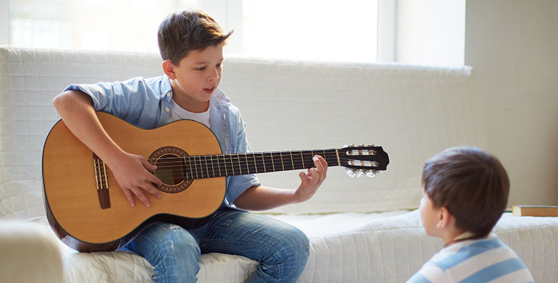Guitar Lessons Give Kids A Healthy Outlet for Managing Stress